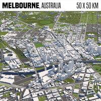 Melbourne Australia 50x50km