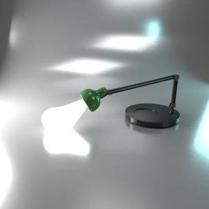 3D desk lamp design