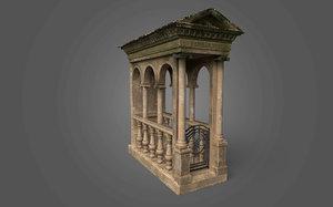 3D mausoleum 2 - ready model