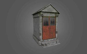 cemetery mausoleum 3 - 3D model