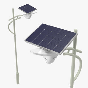 3D solar led street light