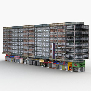 hong kong building 0001 3D model
