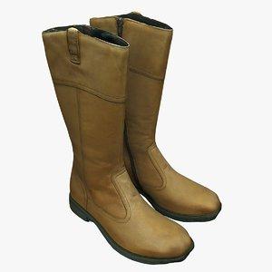 3D boots shoes model