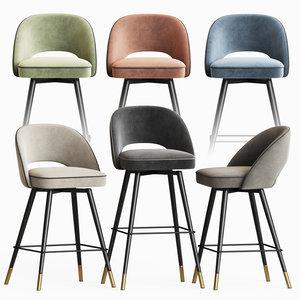 eichholtz bar stool counter 3D model