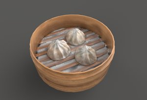 asia food steamed port 3D model