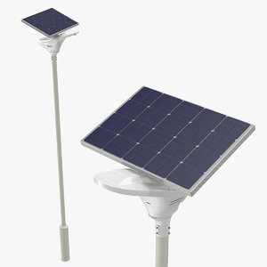 3D led solar street light