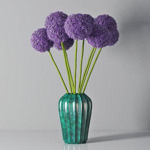 3D allium decorative vase model