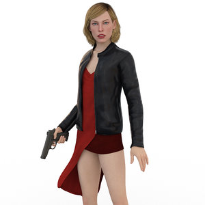 milla jovovich alice v3 3D model