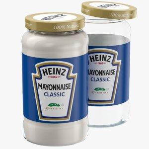 mayonnaise glass jar model
