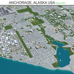 3D city area building