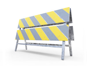 construction barrier 3D model