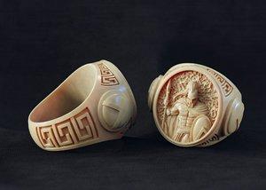 jewellery ring spartan 3D model