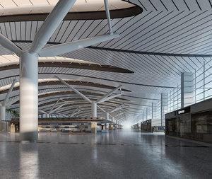 airport interior model