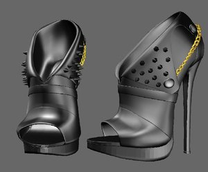 3D shoeshighheelboot model