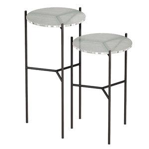 3D set tables glass maylan model
