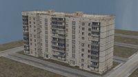Russian Soviet Panel Concrete building