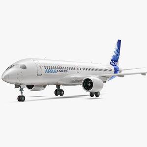 3D airbus a220 300 interior model
