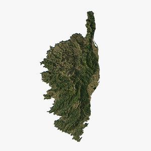 relief corsica 3D model