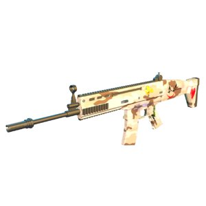 3D model scar rifle