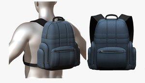 3D backpack generic camping model
