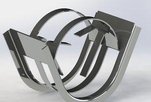 ring columns 3D model