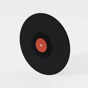 disc vinyl 3D model
