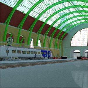3D railway station king s model