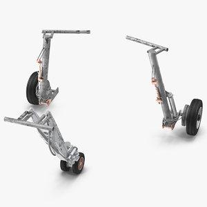 3D landing gear set model