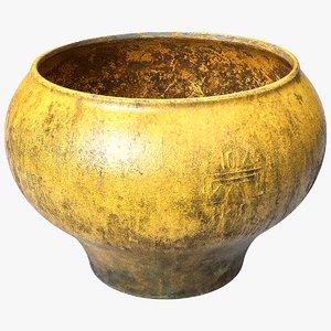 scanned clay pot 3D model