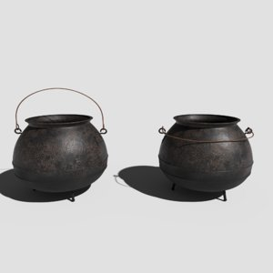 pbr cauldron 3D model