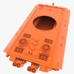 3D e-100 hull stl model