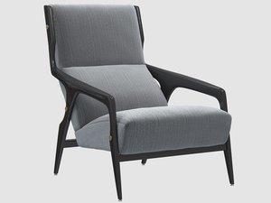 3D 1964 armchair gio ponti model