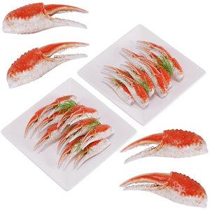 3D model crab dish