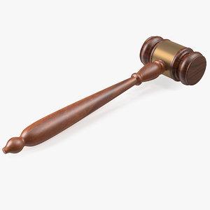 judge gavel 3D model