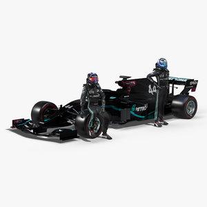 3D 2020 mercedes f1