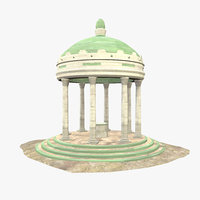 Roman Building V - Low Poly - Textured