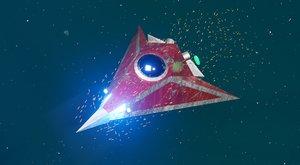 3D alien spaceship model
