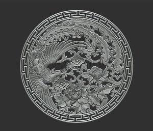 3D pendant jewelry relief model