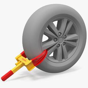 3D anti theft tyre parking