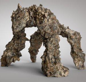 golem rock 3D model