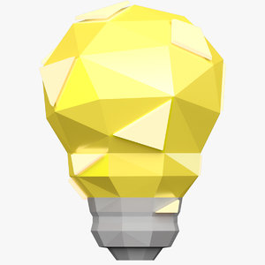 3D idea light bulb model