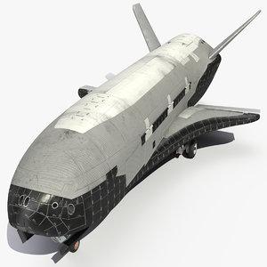 reusable robotic spacecraft space 3D model