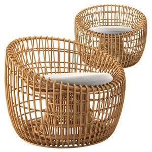 3D nest lounge chair