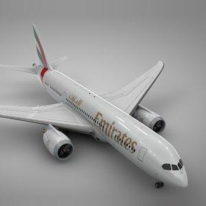 boeing 787 dreamliner emirates 3D model