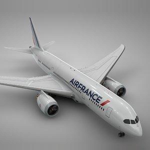 3D model boeing 787 dreamliner air france