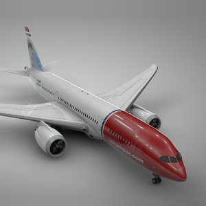 3D boeing 787 dreamliner norwegian model