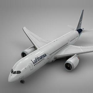 boeing 787 dreamliner lufthansa model