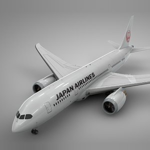 3D boeing 787 dreamliner japan