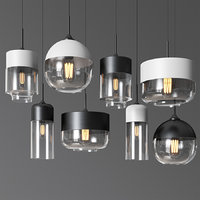 Gzmj modern metal glass lamps