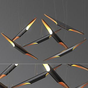 3D coltrane suspension light